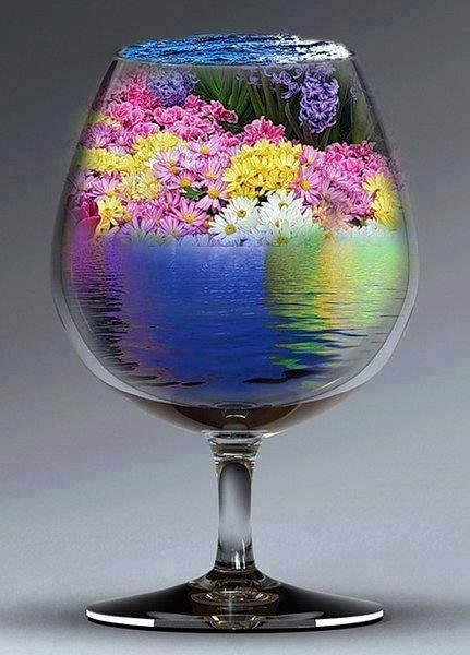 flori,pahar
