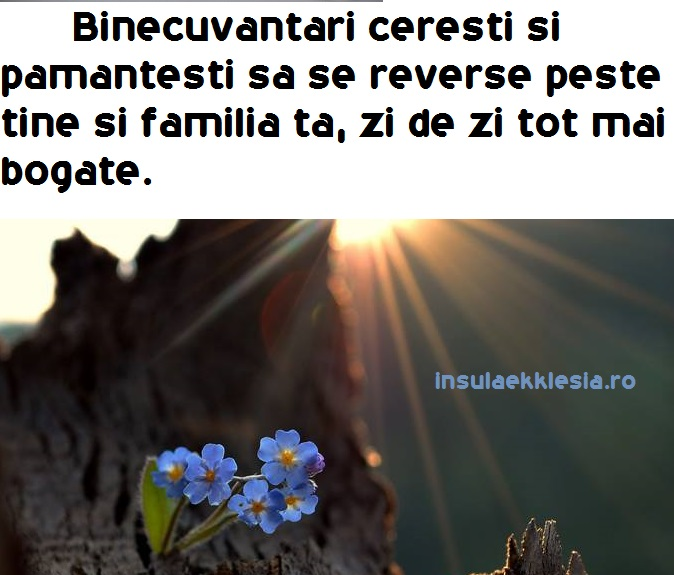 binecuvantari ceresti,urare